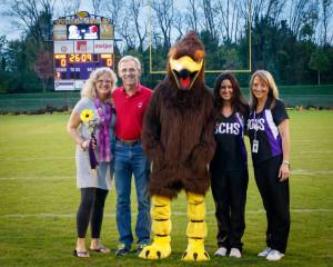 Senior Night - mascot, parents & coaches