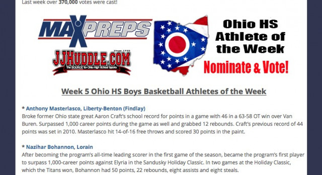 State of Ohio Athlete of the Week – Naz Bohannon