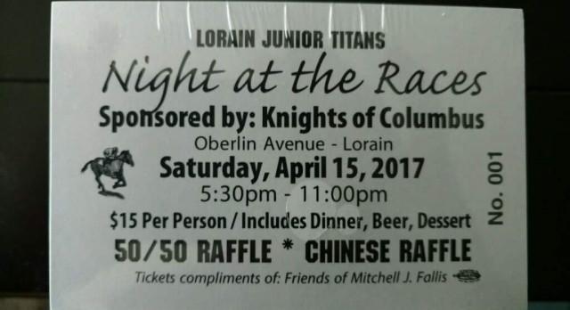 Lorain Junior Titans NIGHT AT THE RACES