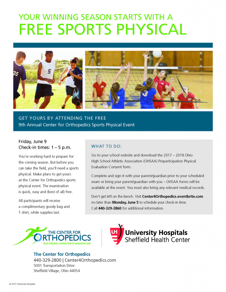 FREE SPORTS PHYSICALS! - This is the home of lorainathletics.org