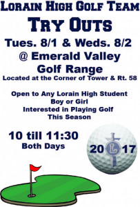 2017 Golf Try Outs