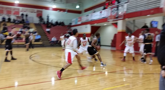 Sequoyah High School Boys Varsity Basketball beat Rome High School 76-57