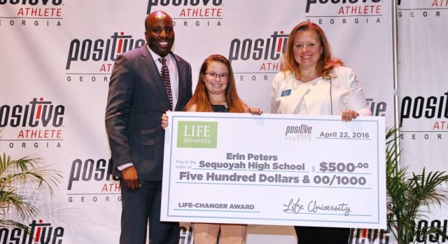 Erin Peters SHS Positive Athlete Award Winner