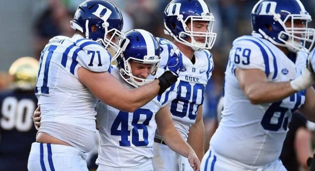 Former Lion kicks Duke to upset of Notre Dame