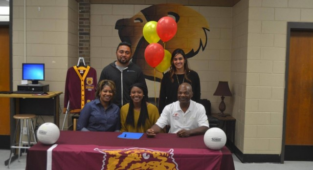 Lady Lions Volleyball's Adams Signs with Bethune-Cookman