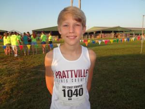 7th Grader Jonathan Buchner cuts 55 seconds off PR!!!