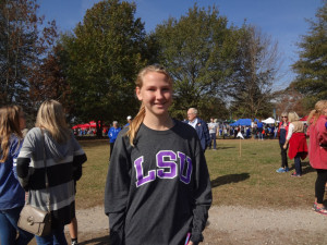 Senior and Team Captain Susan Short finishes XC Career with a Season Best Time!