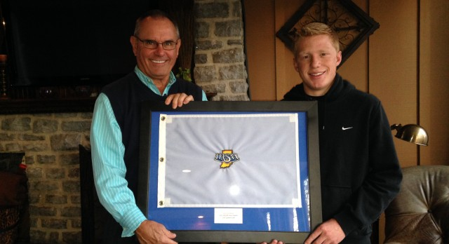 Golf State Finals Flag Presentation
