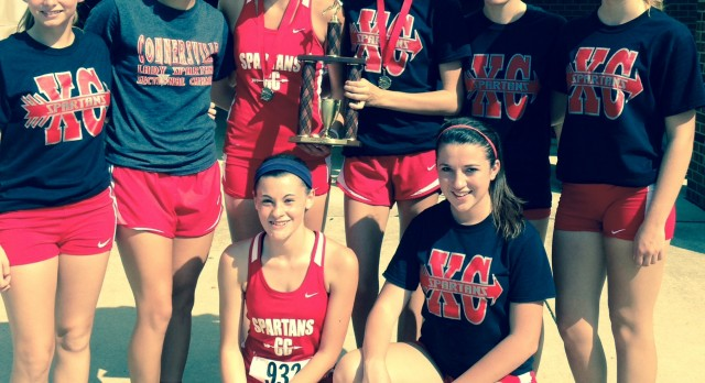 Connersville High School Cross Country Varsity Girls finishes 1st place at Richmond Invitational