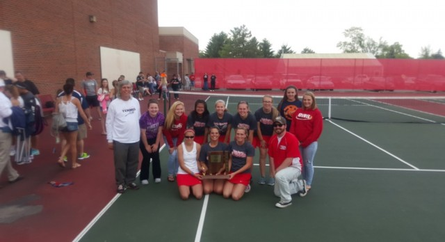 Lady Spartans Win Tennis Sectional!!!!