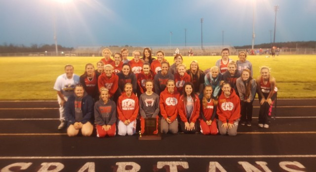 LADY SPARTANS WIN 2015 TRACK SECTIONAL!!!!!