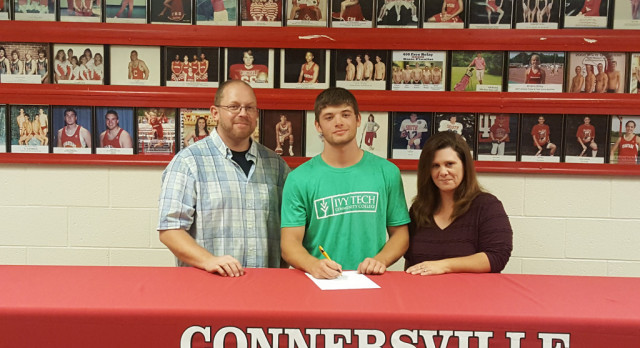 Nathan Clark will play baseball for Ivy Tech in Fort Wayne.