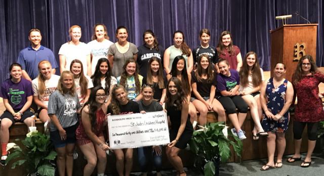 Softball team raises over $6,000 for St. Judes Children Hospital.  #GoRams