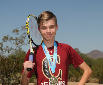 High School Tennis CAA 2nd Division Men's Singles State Champion!