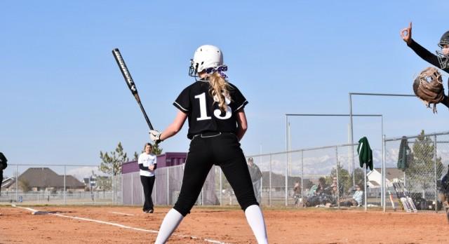 Riverton High School Varsity Softball beat Payson High School 12-2