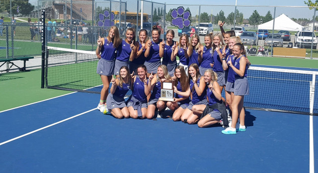 Riverton High School Girls Varsity Tennis finishes 1st place