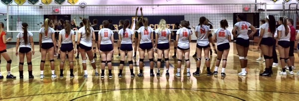 Berea-Midpark High School Girls Varsity Volleyball beat North Ridgeville High School 3-1