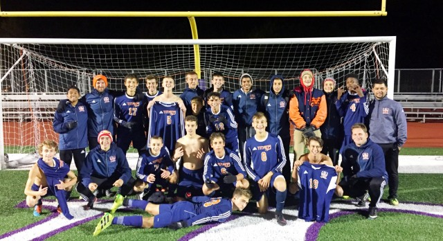 Titans Varsity Soccer Advances to District Semifinals by Beating Avon High School 2-1