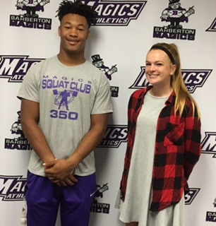 Alea Griffith and Keye Thompson Student-Athletes of the Week