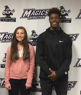 Megan Schanz and Macolm Boyd Student-Athletes of the Week