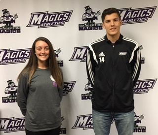 Bethany Hrabusa and Stefan Dragic Selected as Student-Athletes of the Week