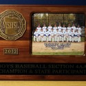 2012 Boys Baseball Section 4AA Champ and State Participant