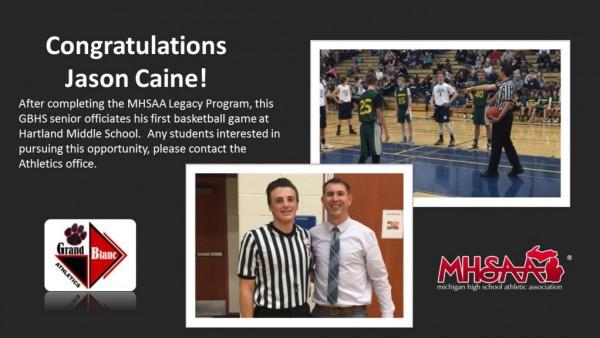 Caine - congratulations