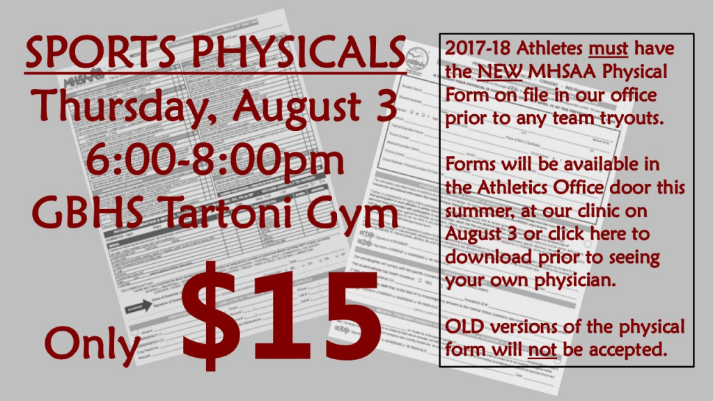 Sports Physicals Clinic - This Is The Home Of Grandblancathletics.Com