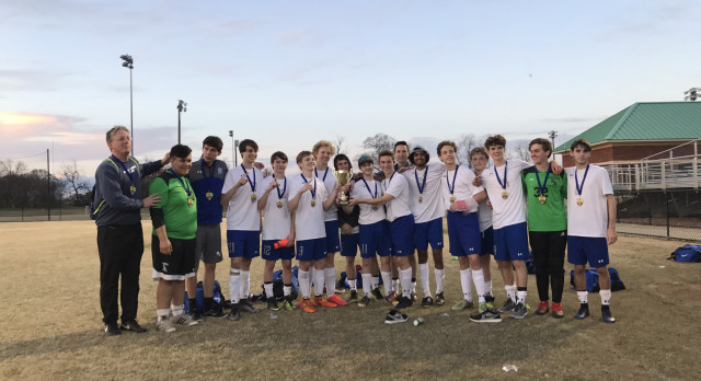 Houston Academy Boys Varsity Soccer beat 2017 Capital of Dreams Classic vs. Carroll High School 2-0