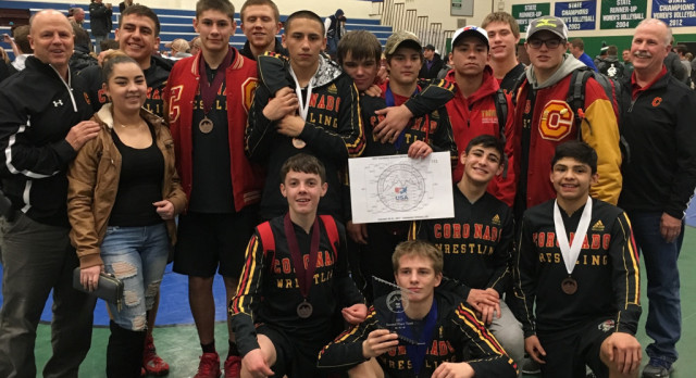 Coronado Wrestling Takes 2nd Place at the Colorado Springs Metro League Wrestling Championships!