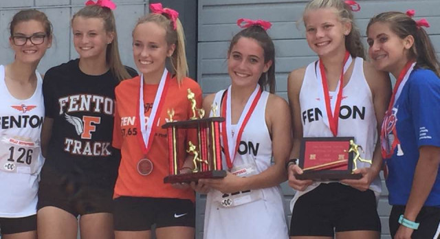 Girls XC Gets a Big Win at Holly Invite