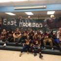 Pirates Visit East Robeson (Varsity football, cheer, and band)