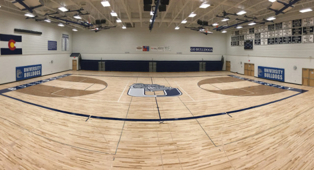 University Gym Floor Gets a Facelift
