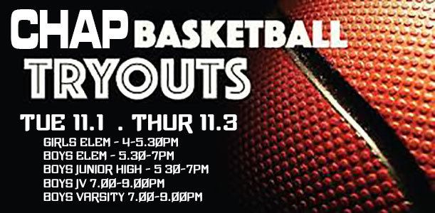 Basketball Tryouts this week!