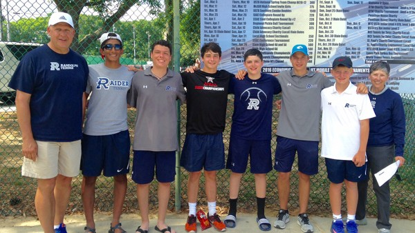 Varsity Tennis Team Finishes 4th at State