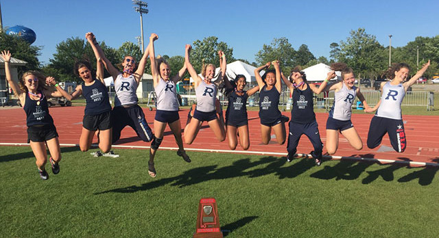 Raider Track Girls place 2nd, 3 new school records