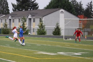 vs Hillsboro Quarterfinal #18 E Gentry shot on goal