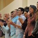 LHS Shenandoah Cheerleaders, Band, and Crowd 2/12/2016