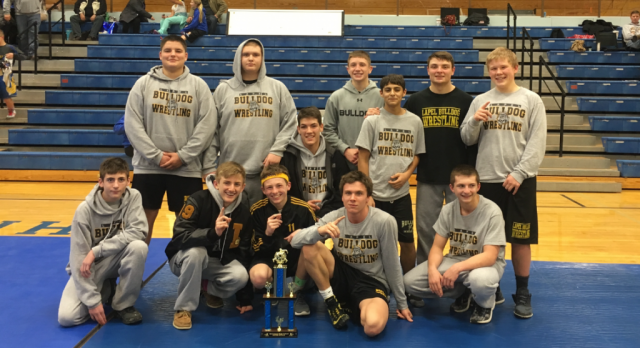 The Lapel Bulldog Wrestlers Win Tri-Central Invitational