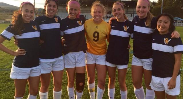 Hood River Valley High School Girls Varsity Soccer beat The Dalles High School 3-0