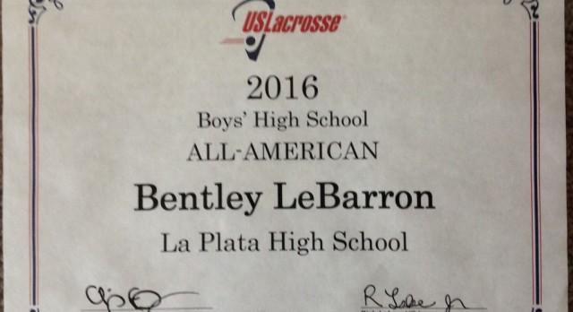 Ben LeBarron – 2016 All-American Lacrosse