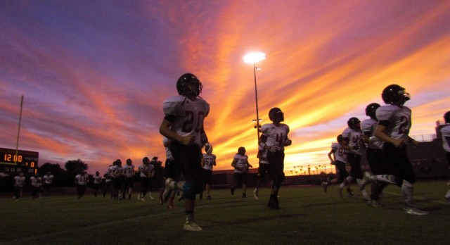 As the Sun Sets, DR Football Shines