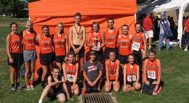 Shadyside High School Coed Varsity Cross Country finishes 2nd place