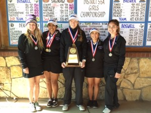 District 5-5A Runner Up Lady Bronco Golf