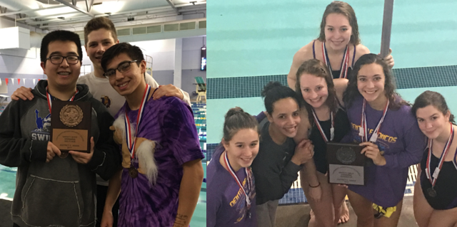 Bronco Swimmers Collect Medals, Team Trophies at UIL District Meet