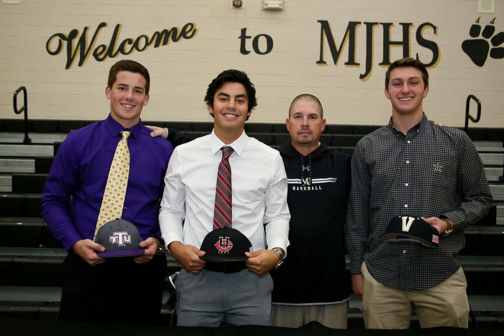 Baseball Signees With Coach Purvis Class of 2018