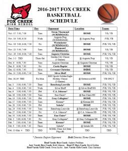 16-17 FC basketball schedule