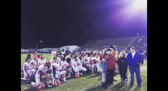 Fox Creek High School Varsity Football beat W J Keenan High School 35-34