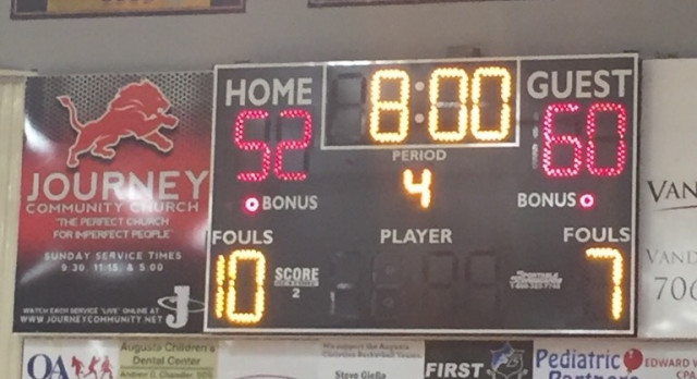 Fox Creek High School Boys Varsity Basketball beat Augusta Christian School 60-52