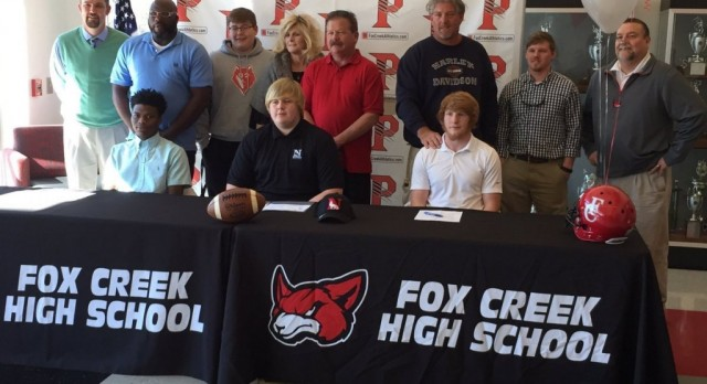 Three Predators Sign to Play College Football